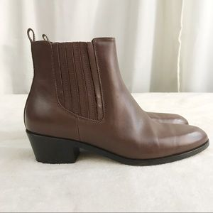 NWOB J. Crew Leather Chelsea Boots